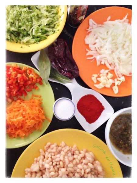 ingredientes alubias Cocina en Verde