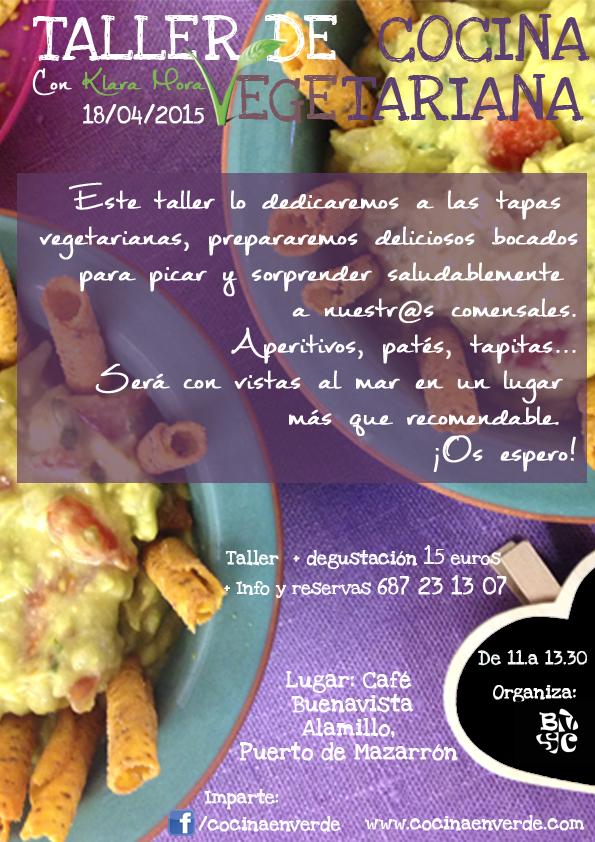 cartel cocina vegetariana klara mora cocina en verde